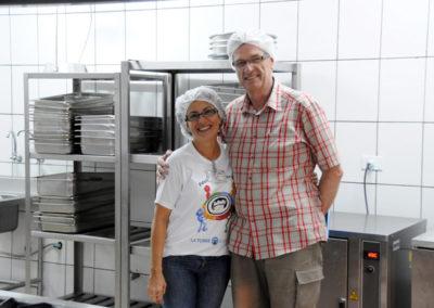 Emil Bolli mit der Küchenchefin Gisèle